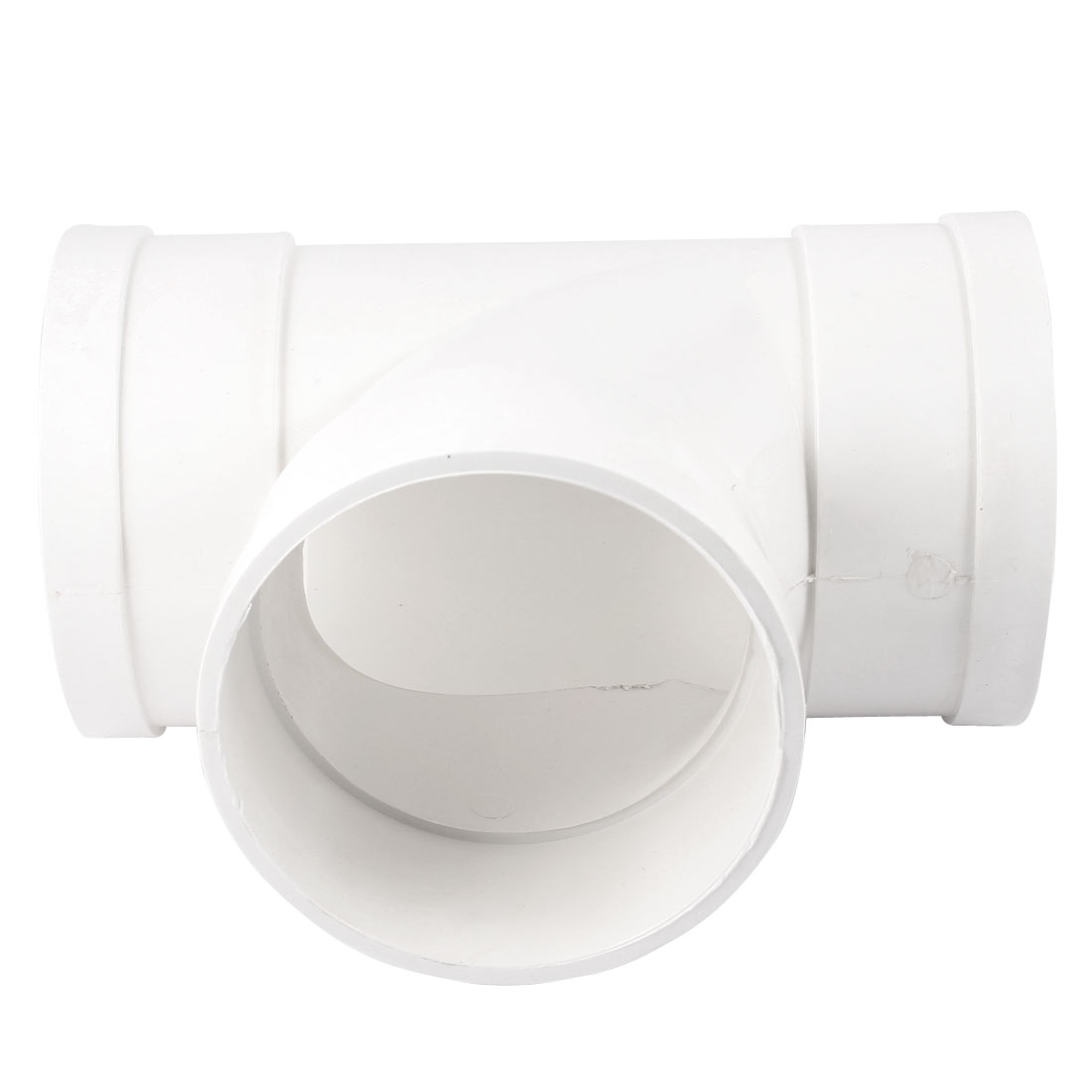 White PVC 110mm T Type 3 Way Water Pipe Hose Joint Adapter Connector