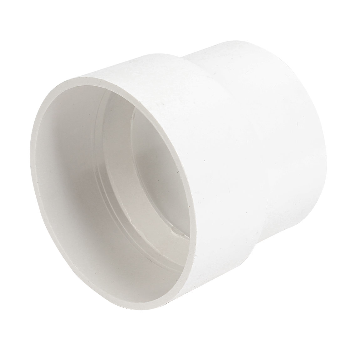 White PVC 125 x 110mm Inner Dia Straight Design Pipe Tube Connector