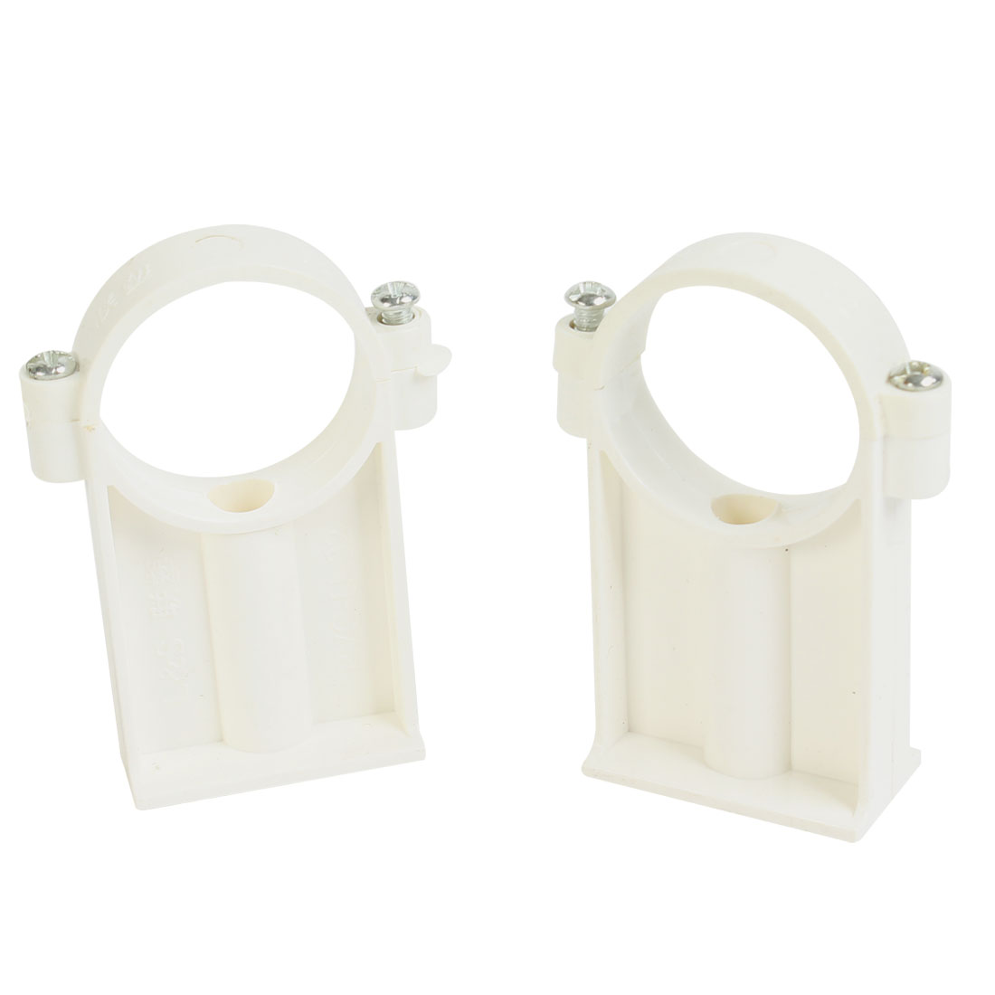 2 Pcs 32mm Dia Water Supply Pipe Clamps Screw Clips Fitting