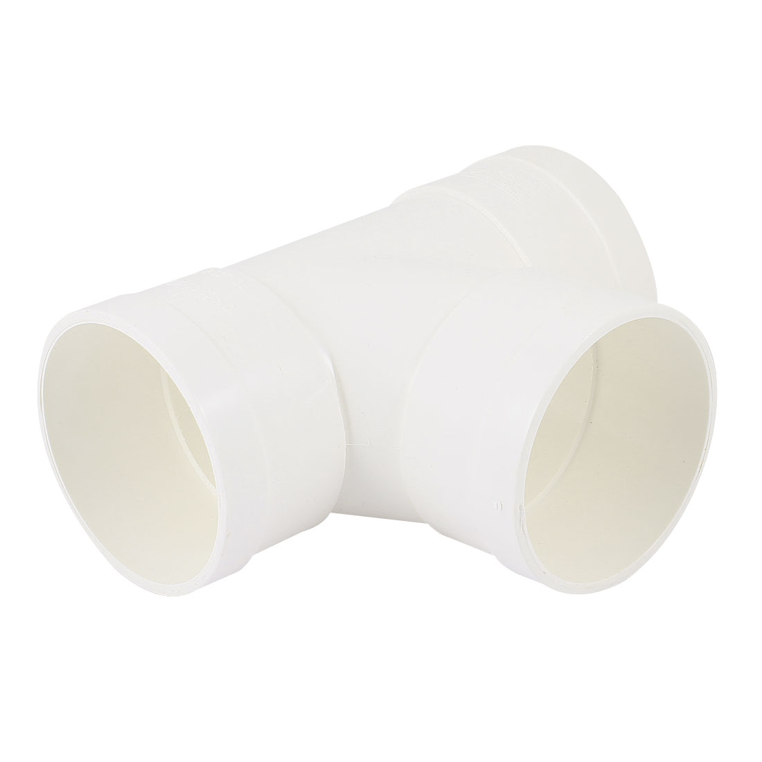 White PVC 75 x 50mm T Type 3 Way Water Pipe Tube Fitting Adapter Connector