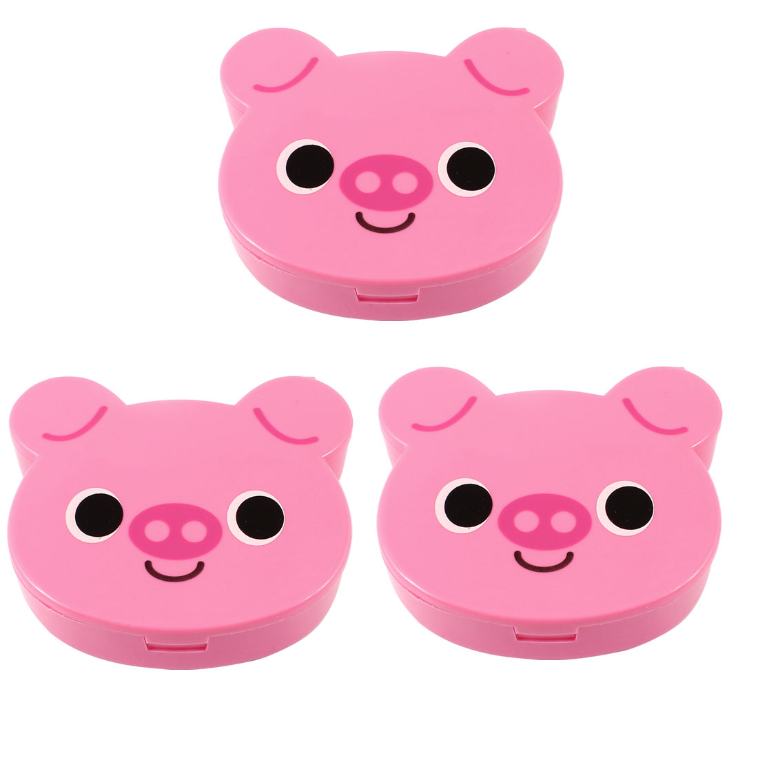 3pcs Pink Plastic Funny Pig Shape Coin Change Money Saving Holder Case Box Organizer for Kids