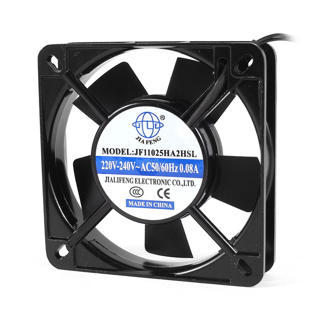 AC 220V-240V 0.08A 110mmx25mm Plastic 5 Flabellums Cooling Fan for Computer Case CPU Cooler