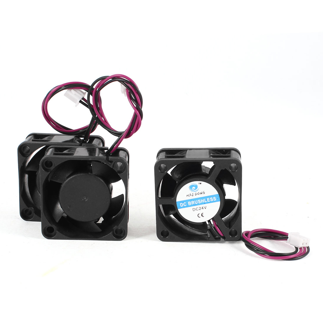 3 Pcs DC 24V 40mmx20mm Plastic 5 Flabellums Cooling Fan for Computer Case CPU Cooler