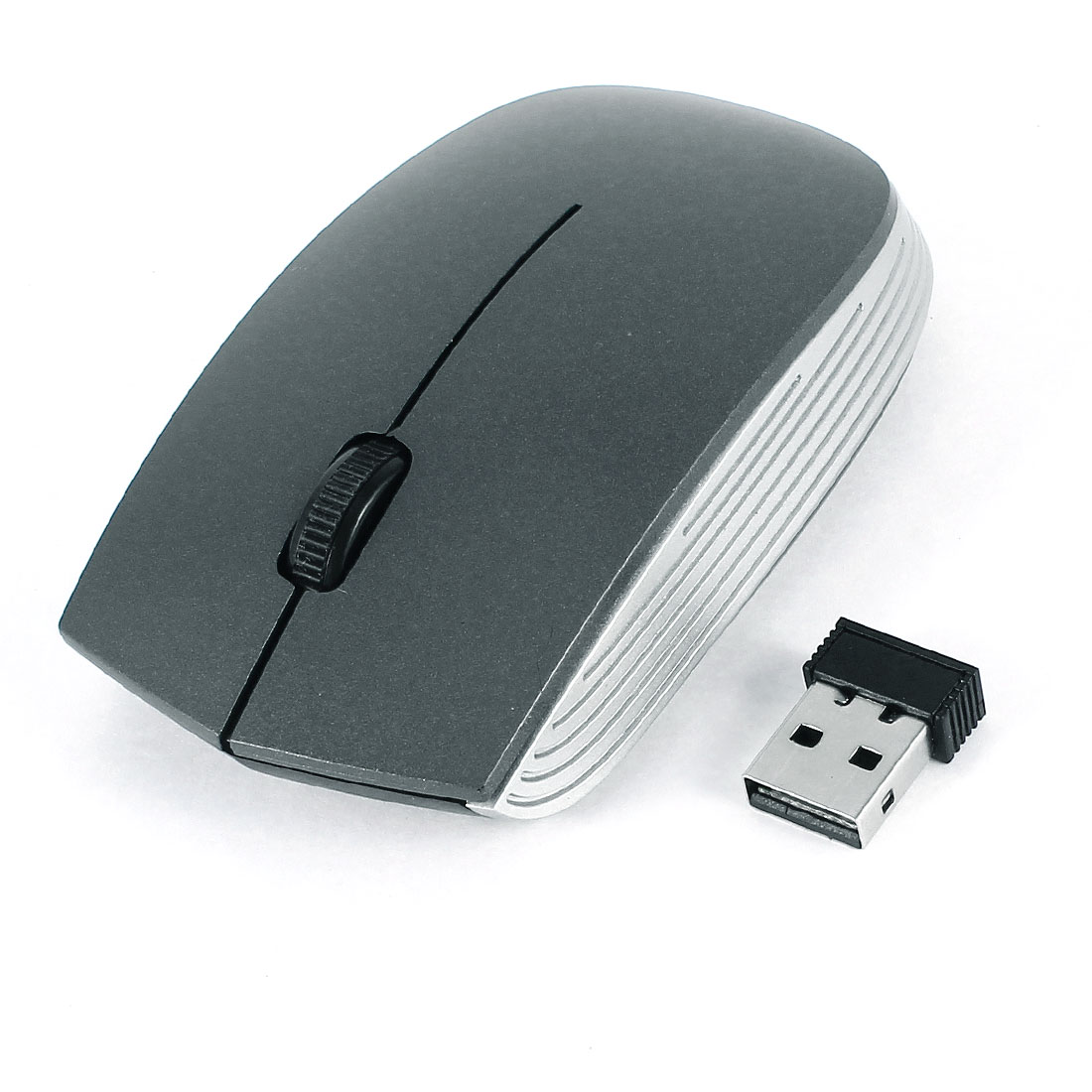 Notebook PC Gray 2.4GHz 800/1600DPI Wireless Mouse Mice w USB Receiver