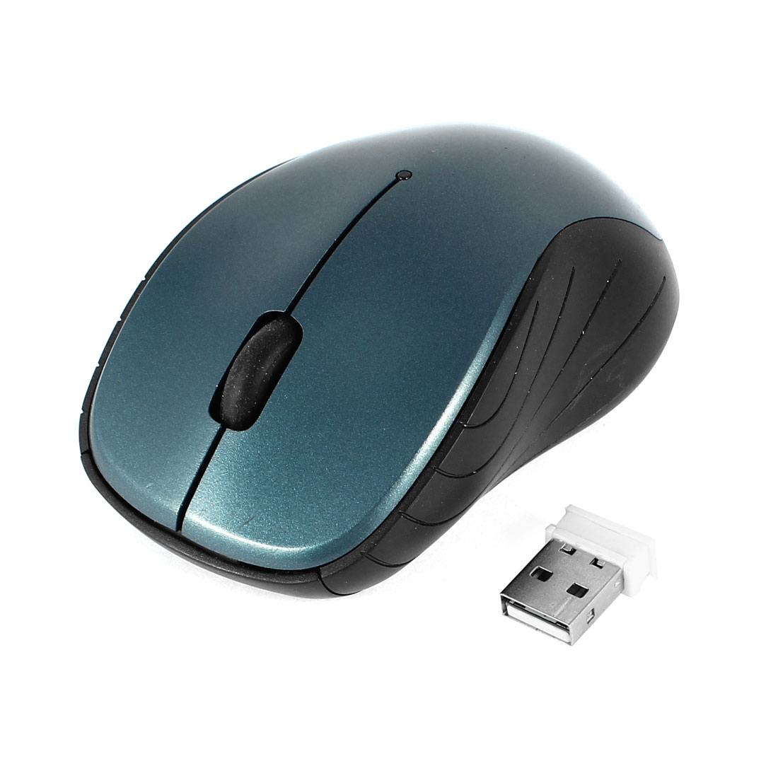 USB Receiver 2.4GHz 800/1600DPI Wireless Optical Mouse Mice Blue Black for PC Computer