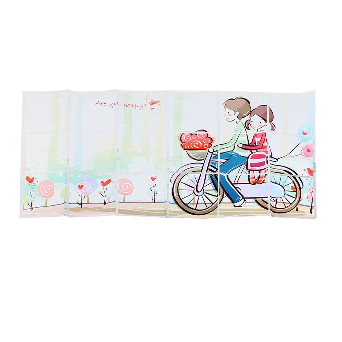 Home Kitchen 90cm x 45cm Grease Resistant Cartoon Boy Girl Pattern Decal Sticker