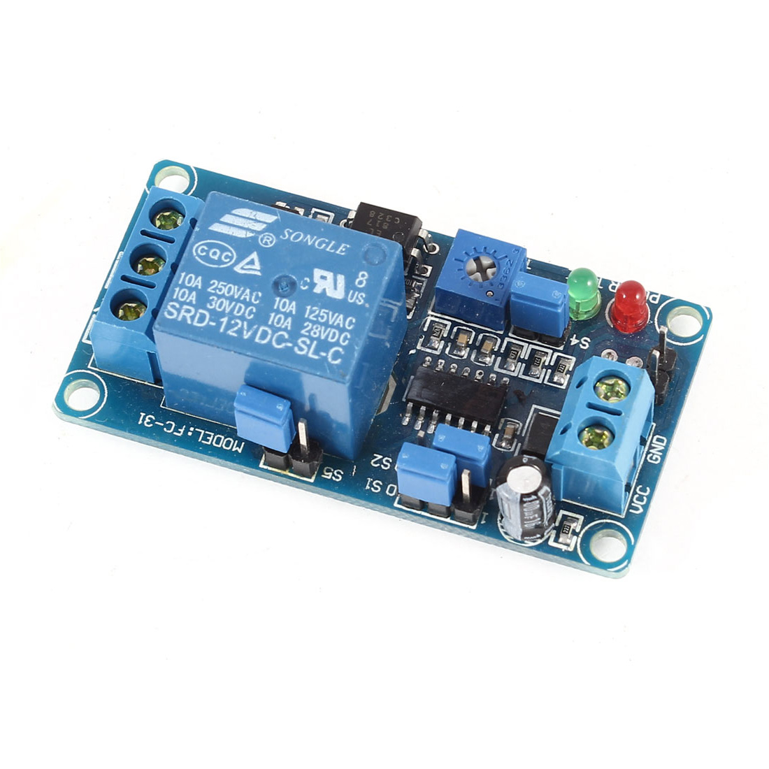 DC 12V 1 Channel Power Supply Adjustable Trigger NO Delay Time Relay Module