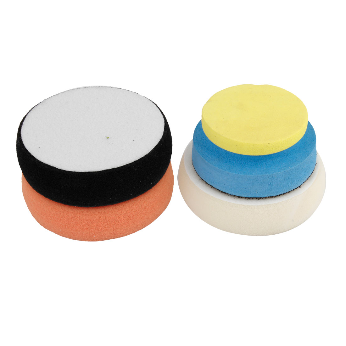 4 in 1 Car Round Cleaning Washing Polishing Tool Sponge Pad Set