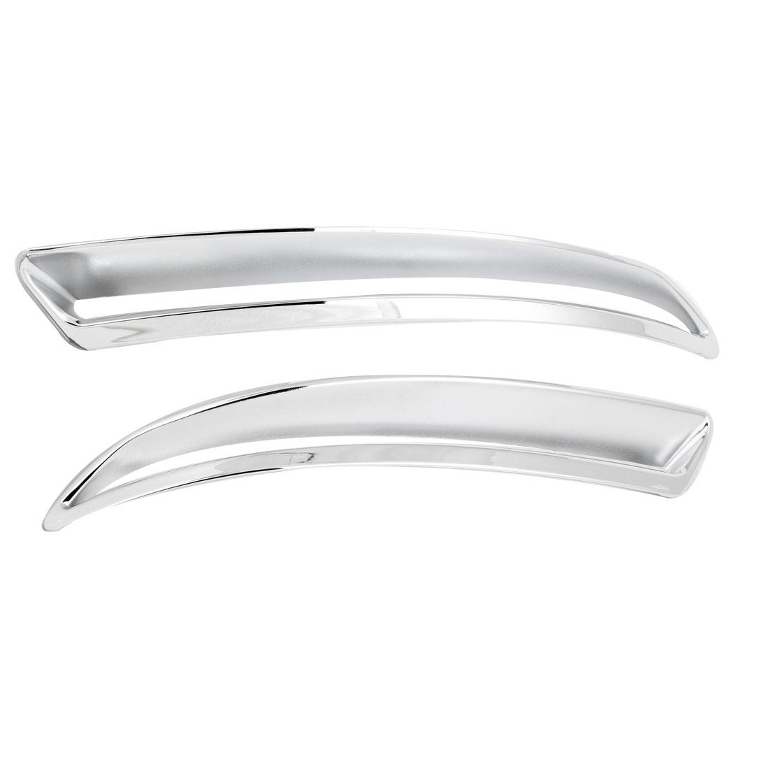 2 Pcs Silver Tone Car Chrome Rear Fog Light Cover Trims for VW Tiguan 2009-2011