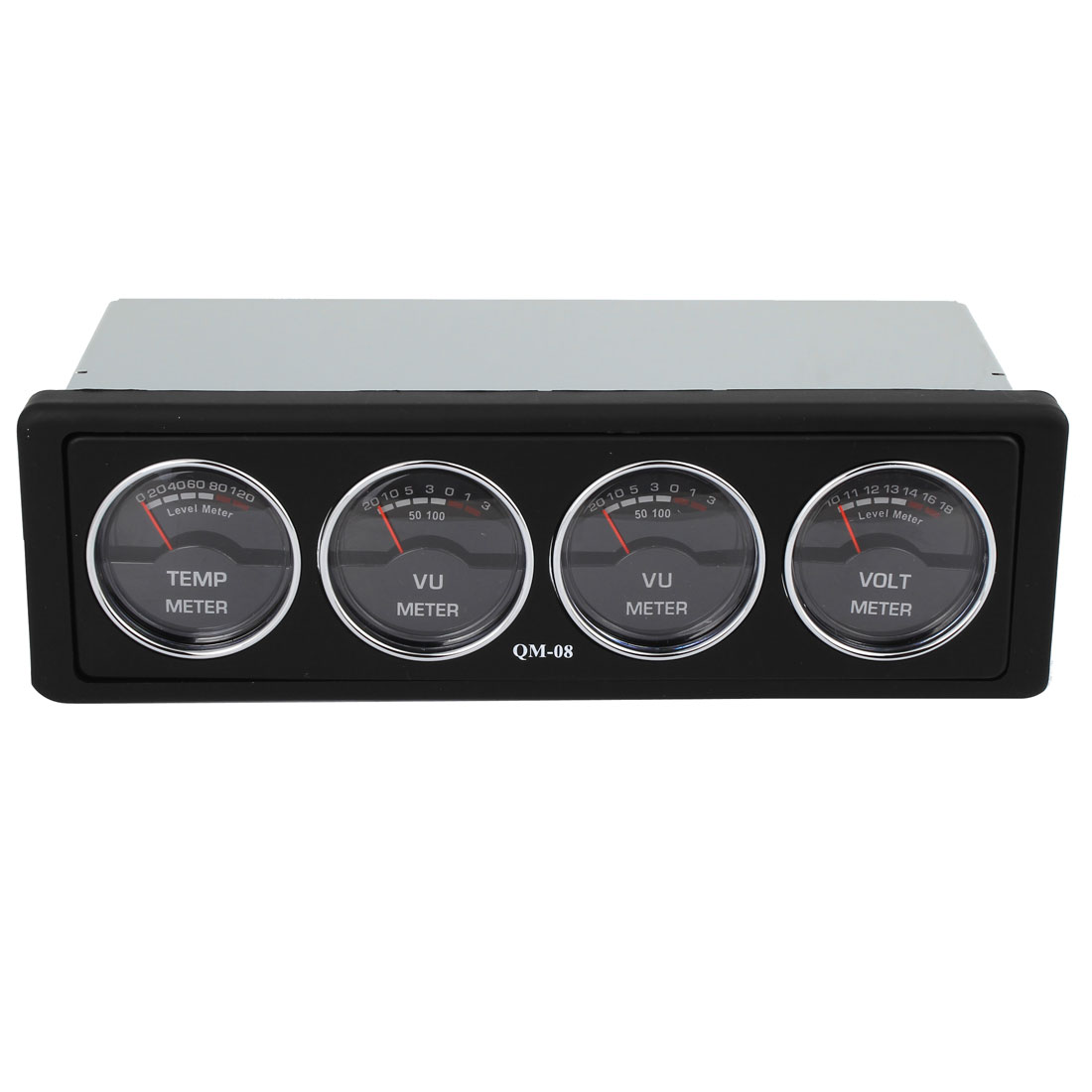 Metal Shell Car Audio Left Right Sound VU Voltage Temperature Analog Level Meter