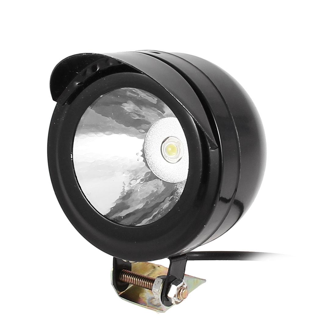 Motorcycle Black Plastic Shell White LED Lamp Decor Spot Light