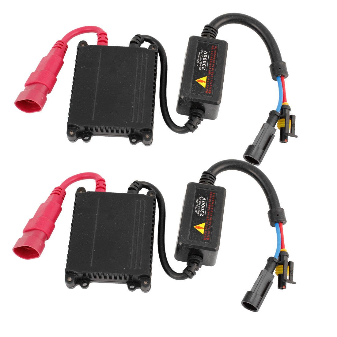 2 Pcs HID Xenon Conversion Slim Ballast Replacement 12V 35W Black