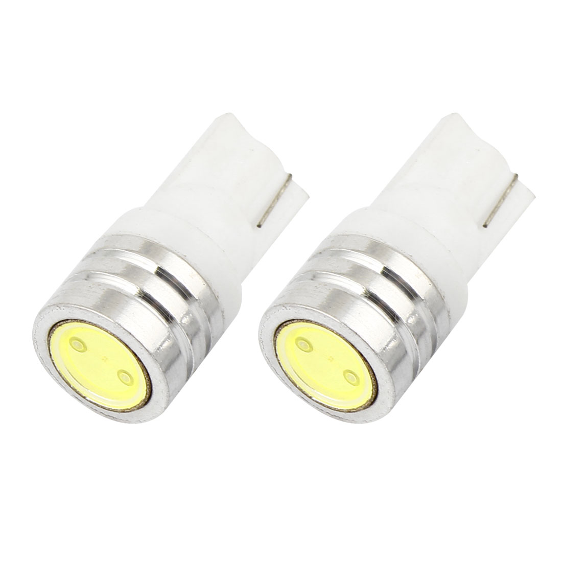 2 Pcs T10 168 Warm White LED Bulbs Interior Gauge Lamp Light 12V 1W Internal for Automobile