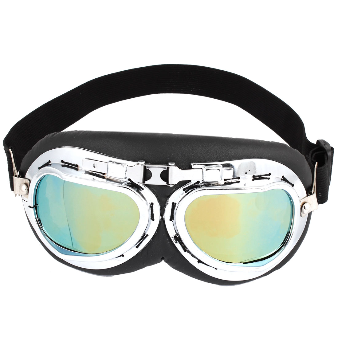 Adjustable Elastic Strap Yellow Lens Full Frame Motorbike Goggles Sunglasses for Unisex