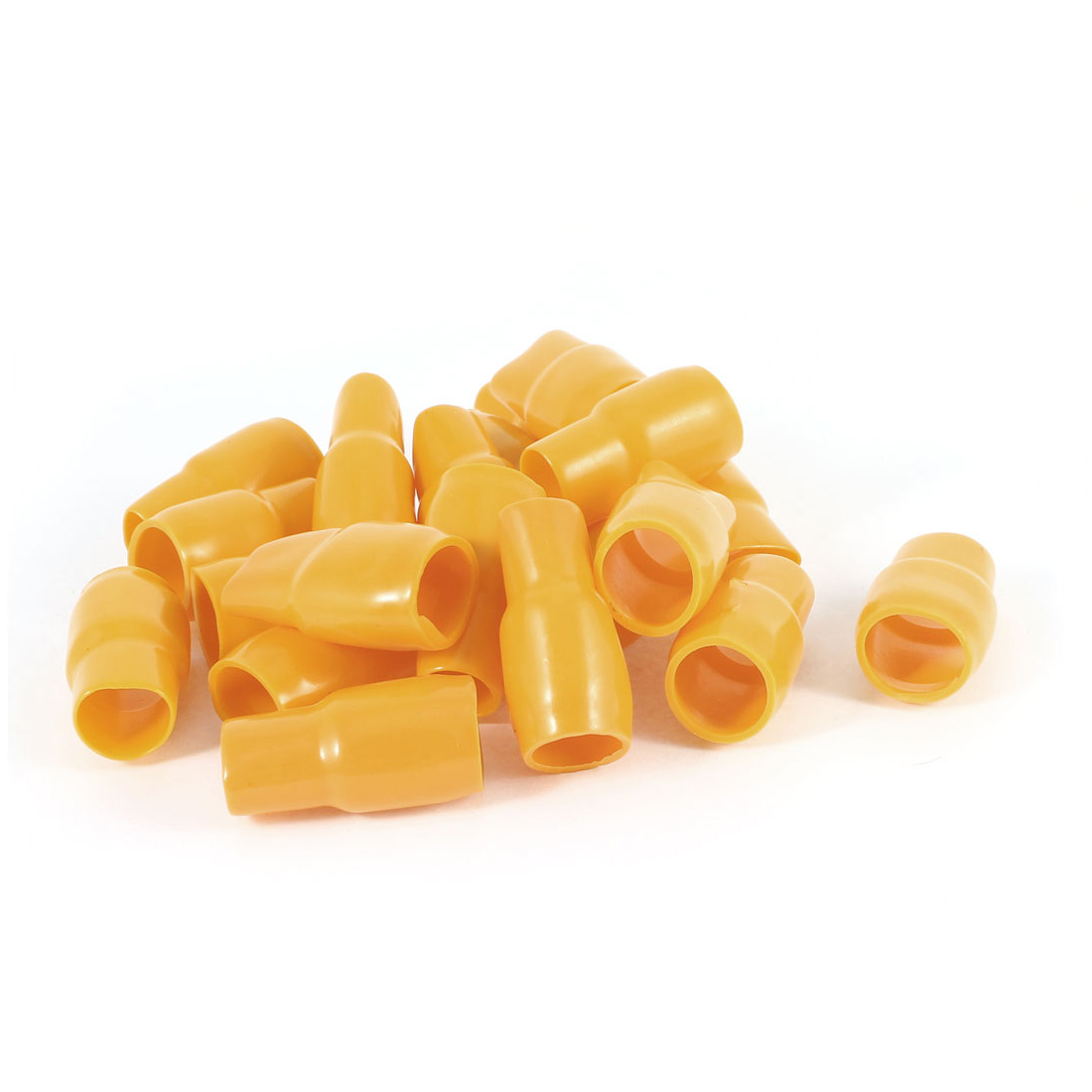 20 Pcs Orange Soft PVC Wire V-60 50mm2 Crimp V Terminal End Insulated Sleeves Caps Cover