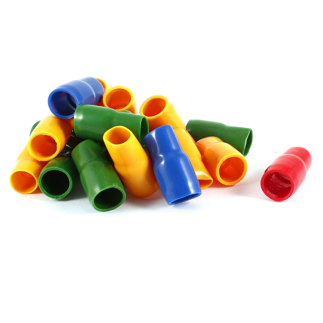 20 Pcs Soft PVC Wire V-38 35mm2 Crimp Terminal End Insulated Sleeves Cover Green Red Blue Orange