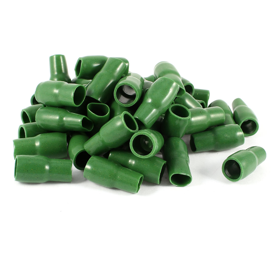 50 Pcs Green Soft PVC Wire V-22 25mm2 Crimp Terminal End Insulated Sleeves Caps Cover