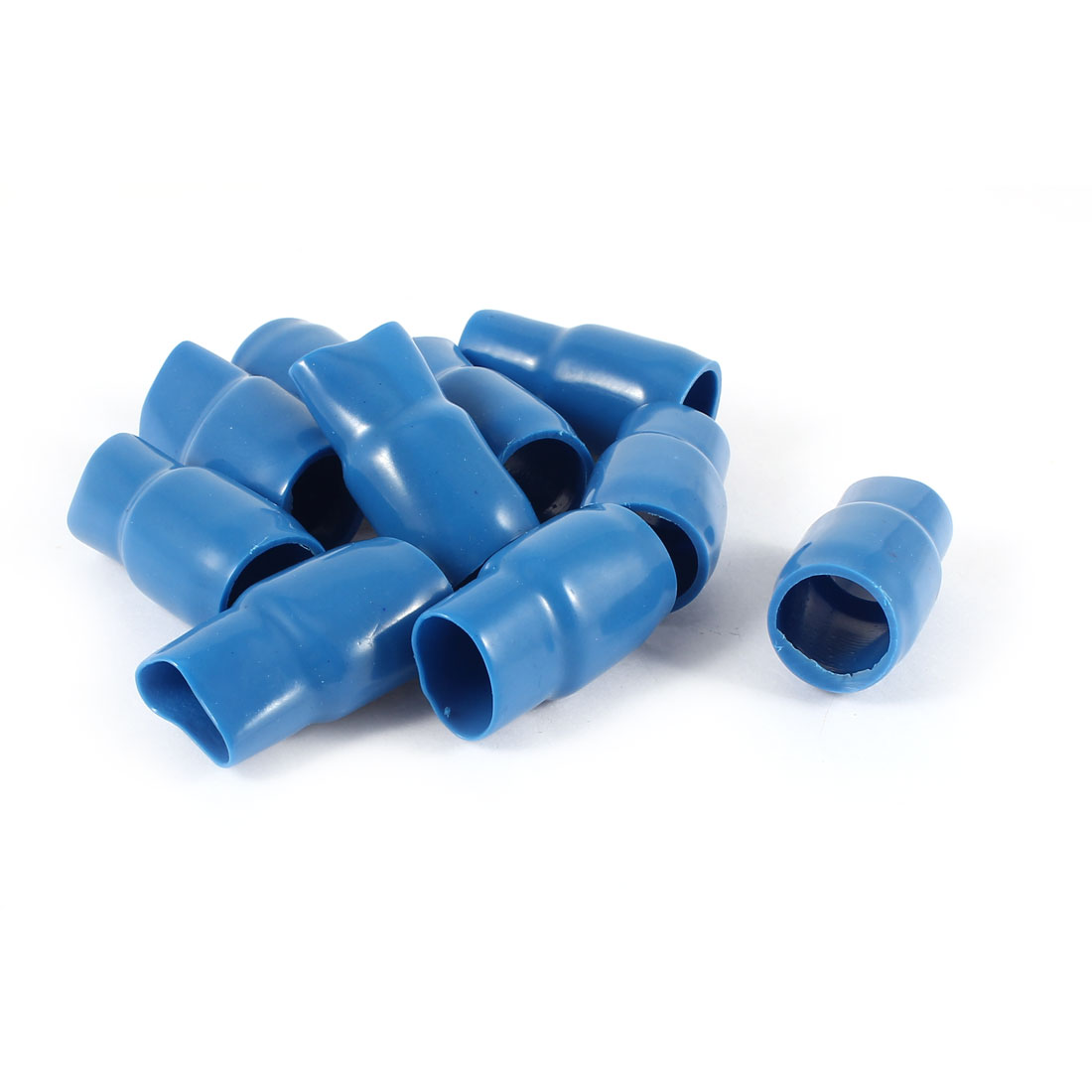 10 Pcs Blue Soft PVC Wire V-60 50mm2 Crimp Terminal End Insulated Sleeves Caps Cover