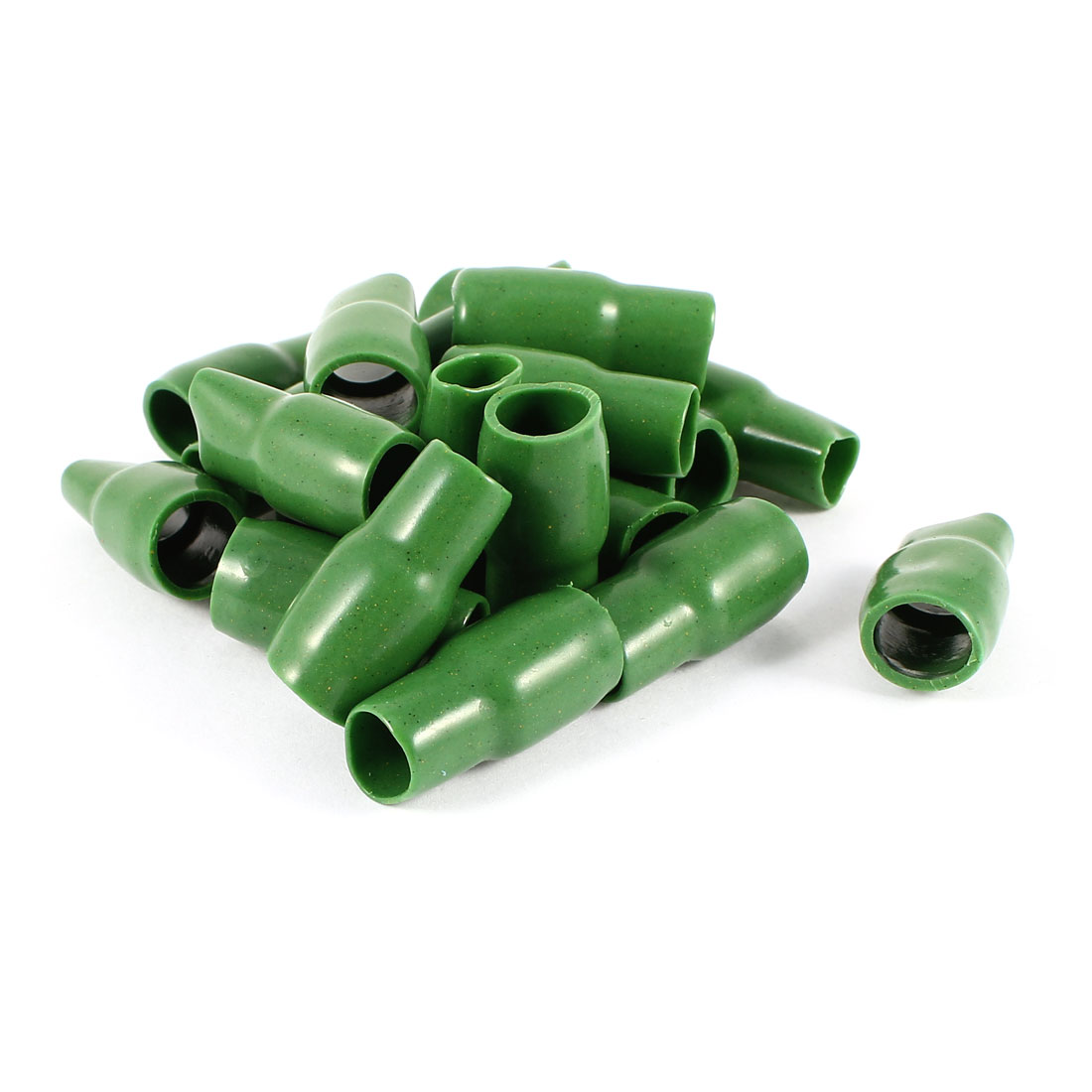 20 Pcs Green Soft PVC Wire V-22 25mm2 Crimp Terminal End Insulated Sleeves Caps Cover