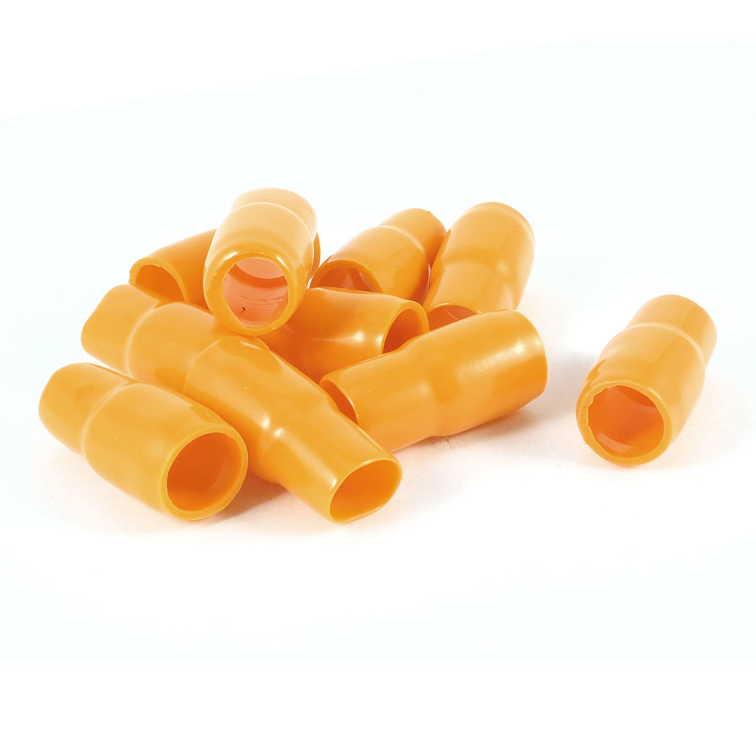 10 Pcs Orange Soft PVC Wire V-38 35mm2 Crimp V Terminal End Insulated Sleeves Caps Cover