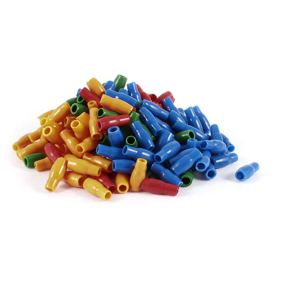 200 Pcs Soft PVC Wire V-3.5 4mm2 Crimp Terminal End Insulated Sleeves Cover Green Red Blue Orange