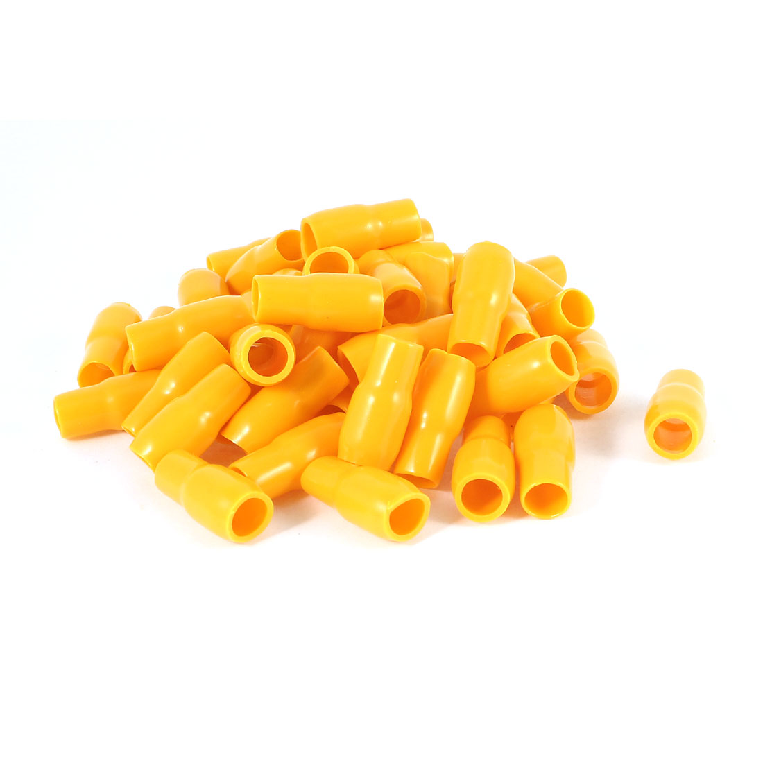 50 Pcs Orange Soft PVC Wire V-14 16mm2 Crimp V Terminal End Insulated Sleeves Caps Cover