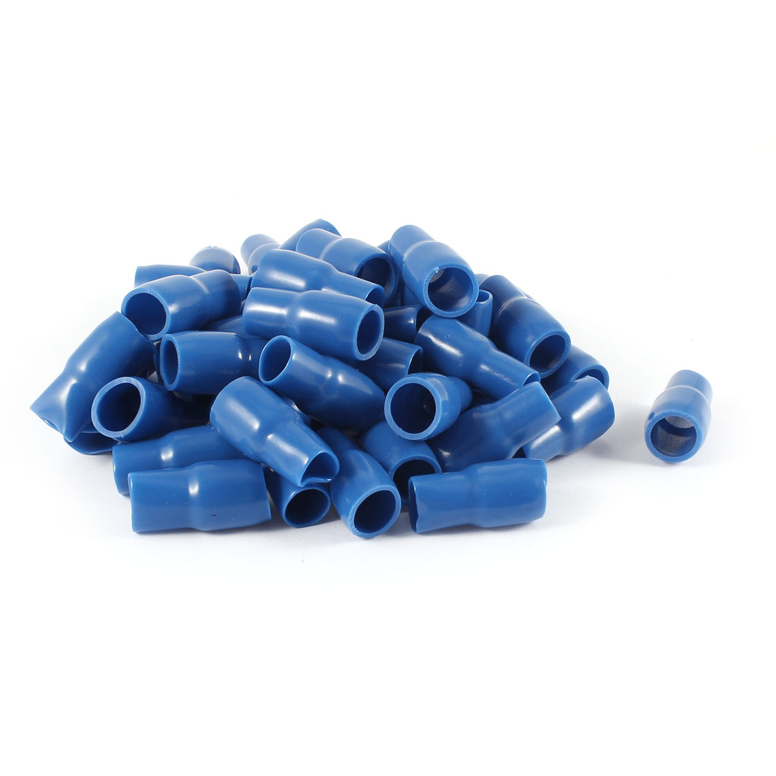 50 Pcs Blue Soft PVC Wire V-22 25mm2 Crimp Terminal End Insulated Sleeves Caps Cover