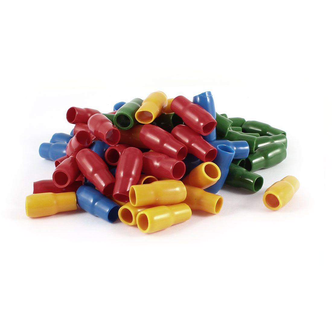 80 Pcs Soft PVC Wire V-14 16mm2 Crimp Terminal End Insulated Sleeves Cover Green Red Blue Orange