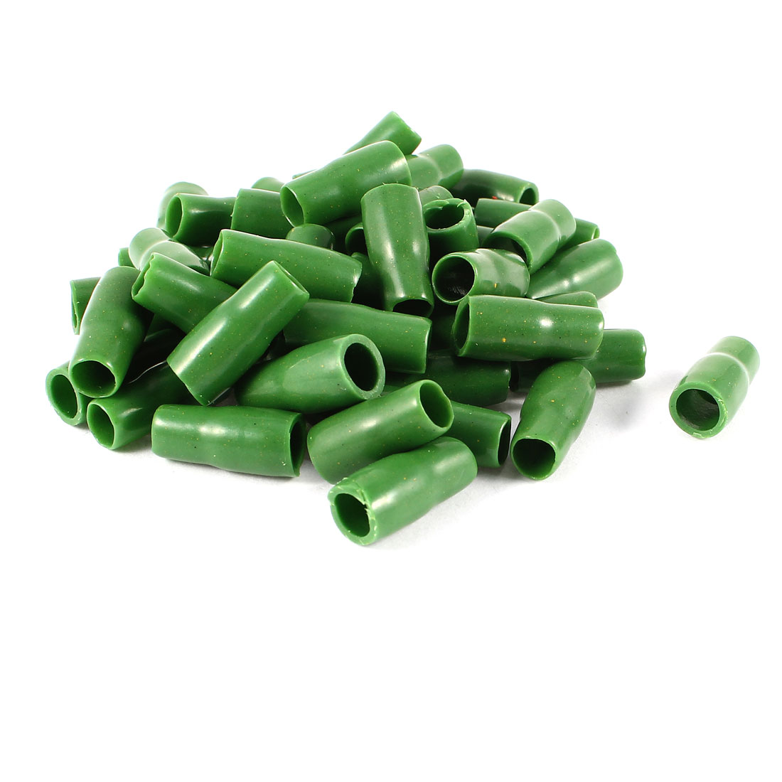 50 Pcs Green Soft PVC Wire V-8 10mm2 Crimp Terminal End Insulated Sleeves Caps Cover