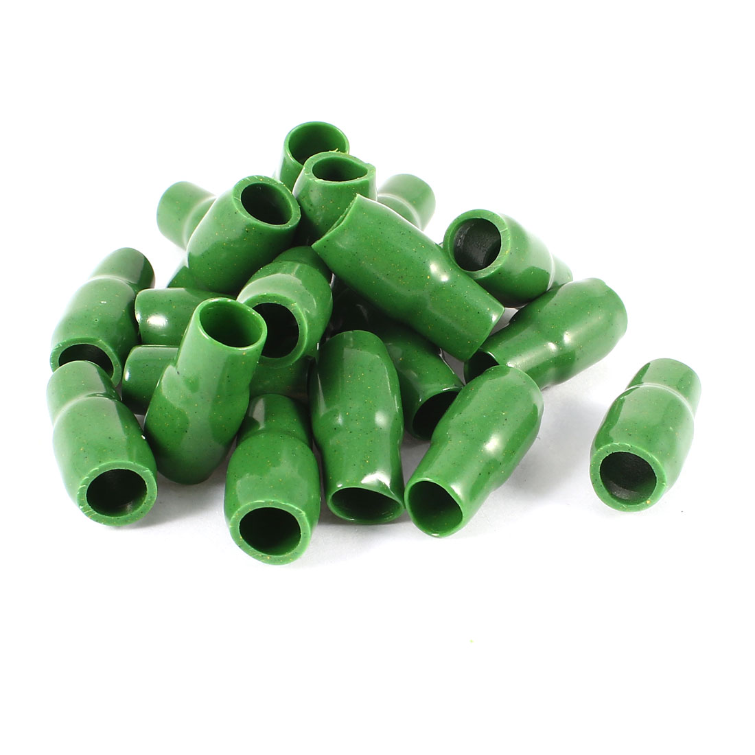 20 Pcs Green Soft PVC Wire V-14 16mm2 Crimp Terminal End Insulated Sleeves Caps Cover