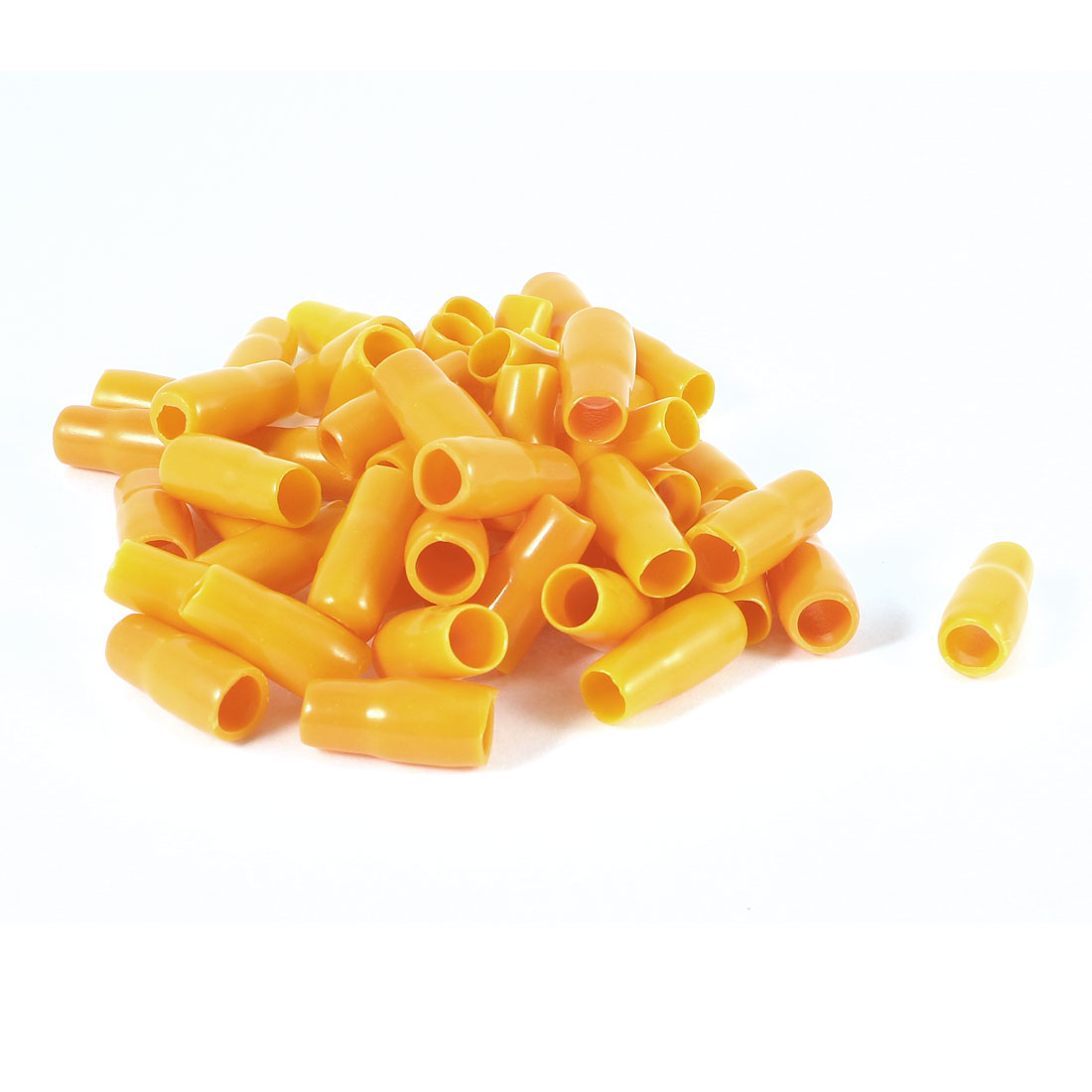 50 Pcs Orange Soft PVC Wire V-8 10mm2 Crimp V Terminal End Insulated Sleeves Caps Cover