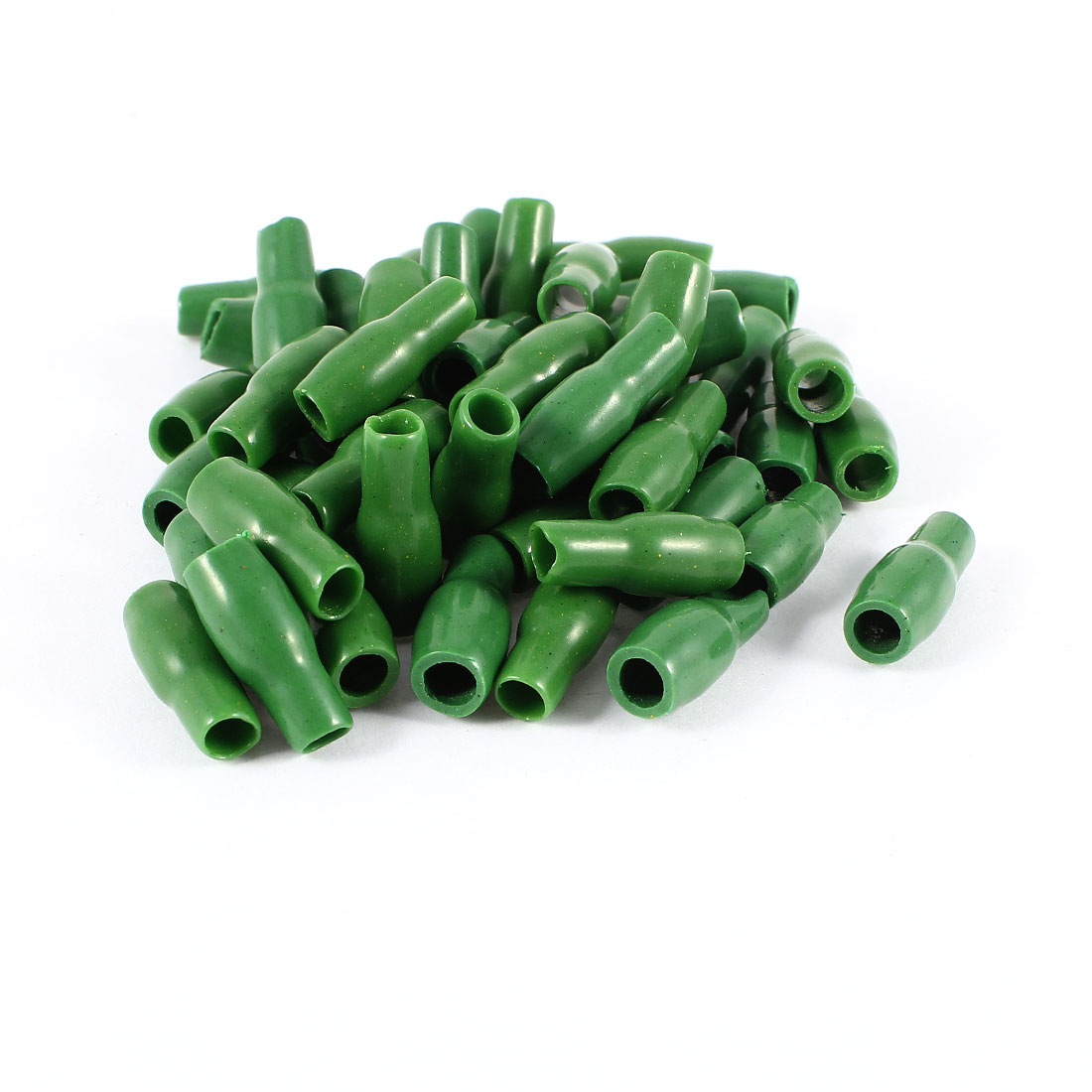 50 Pcs Green Soft PVC Wire V-3.5 4mm2 Crimp Terminal End Insulated Sleeves Caps Cover