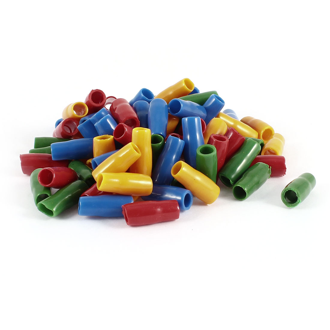 80 Pcs Soft PVC Wire V-5.5 6mm2 Crimp Terminal End Insulated Sleeves Cover Green Red Blue Orange