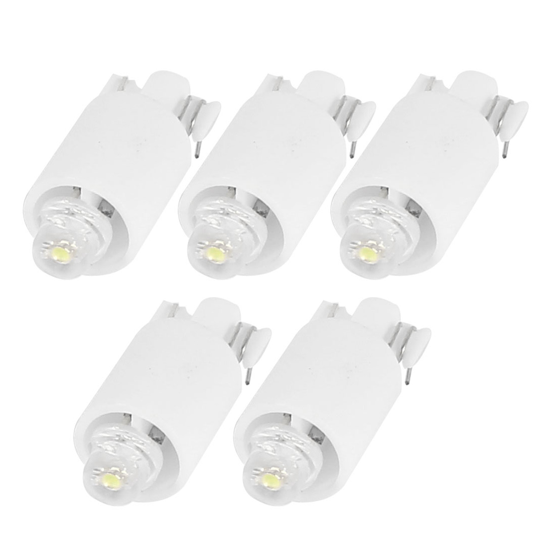5 Pcs Car Vehicle T10 W5W White LED Light Dashboard Bulb Lamp DC 12V 20mA