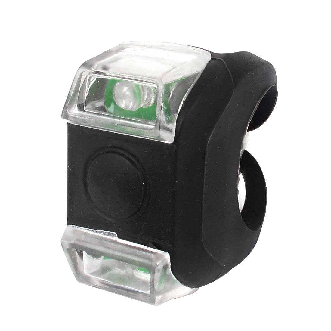 Warning White LED Light Black Silicone Bicycle Bike Headlight Tail Lamp