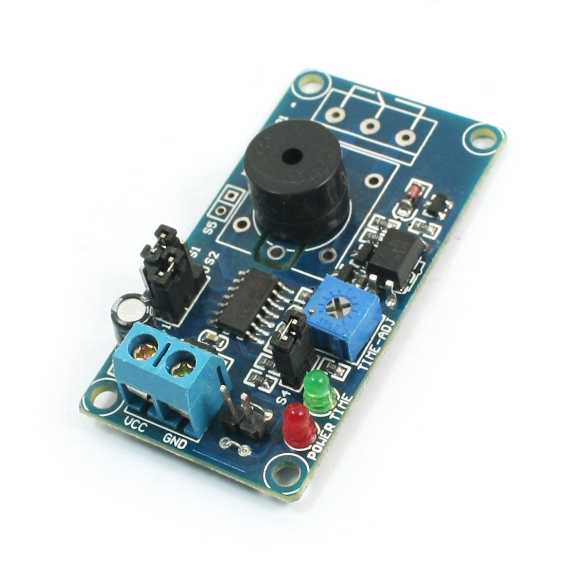 DIY 5V 1-190Sec Adjustable Time Delay Alarm Device Buzzer Module