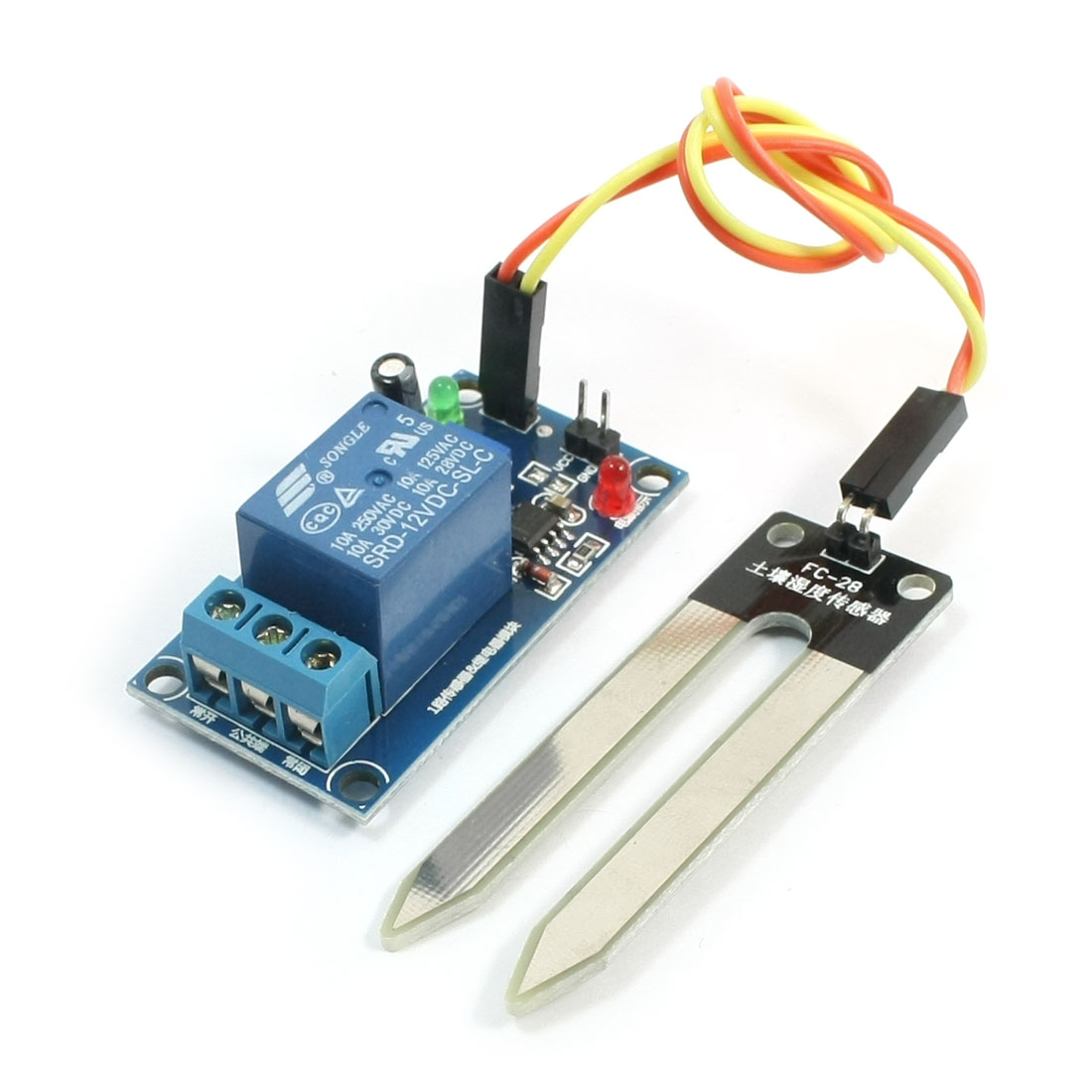 Auto Irrigation LM393 Chip Soil Moisture Humidity Sensor Module 12V