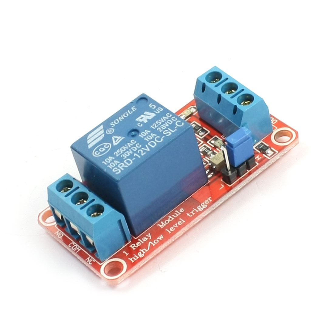 MCU Opto-isolator 1-Channel Power Relay Module Expansion Board DC 12V
