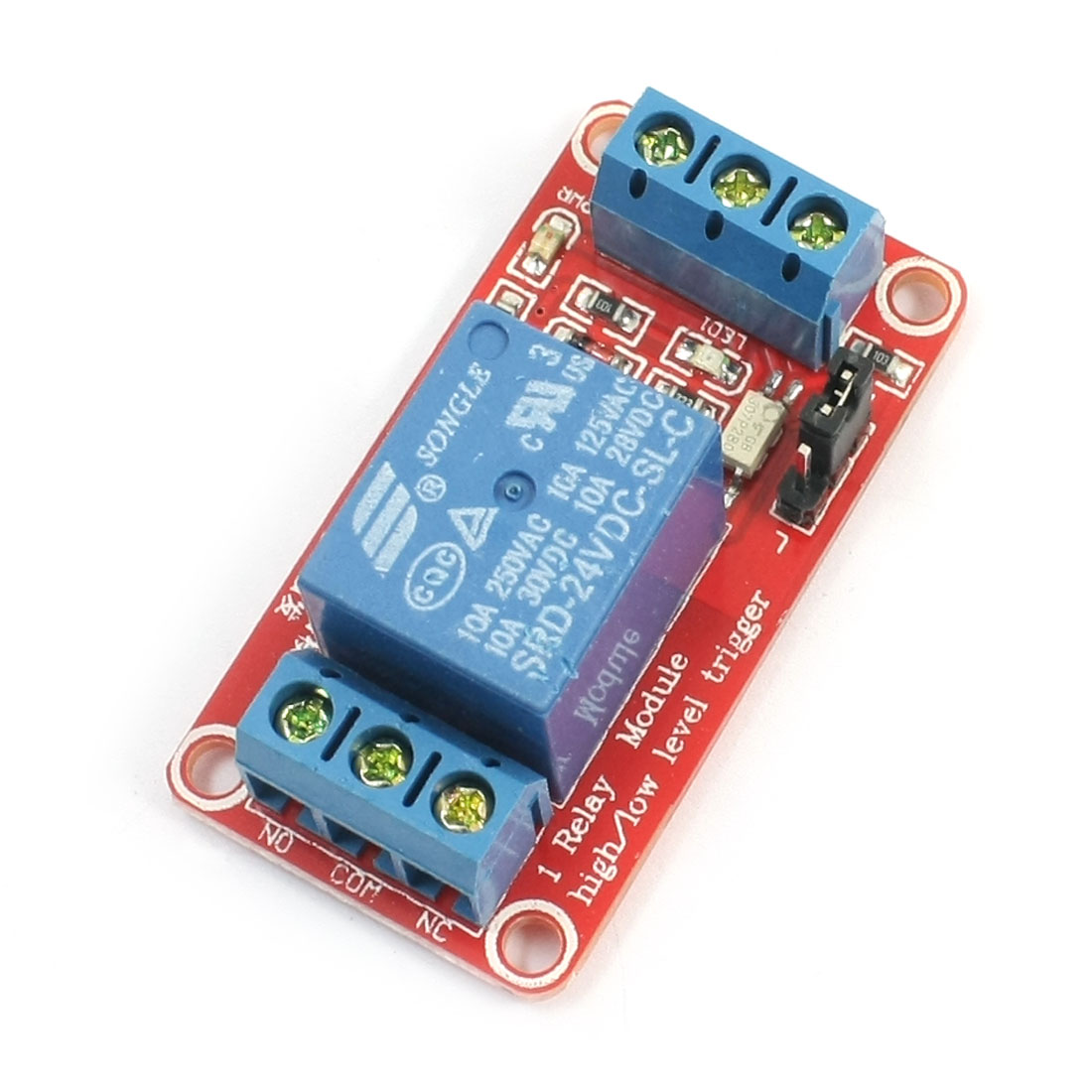 24V Low Level Trigger Optocoupler Isolator 1-CH Power Relay Module