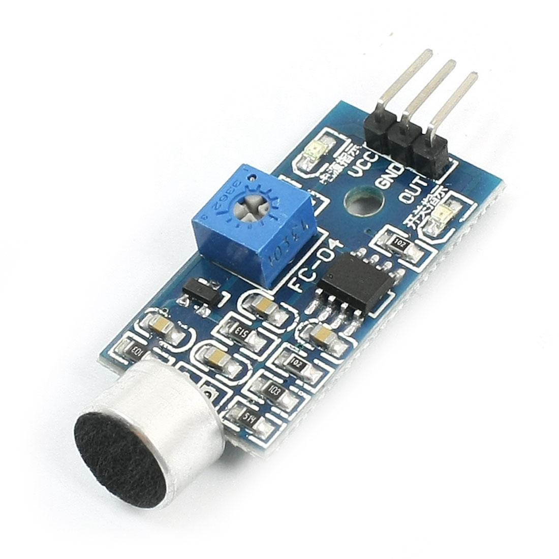 Microcontroller DIY Electronic Microphone Sound Sensor Module DC 5V