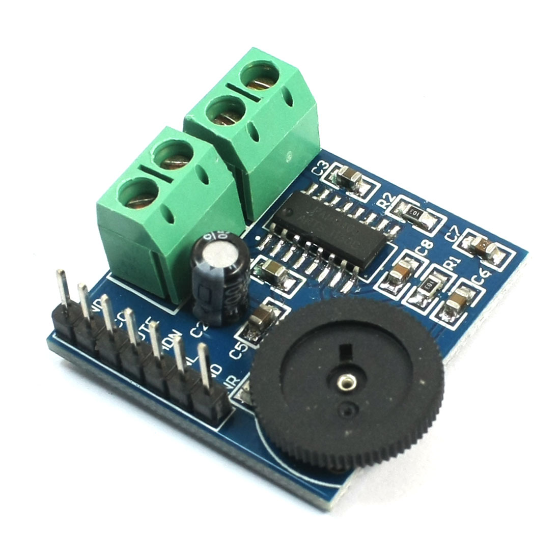 PAM8403 2-Channel Mini Digital Audio Amplifier Board w Volume Control