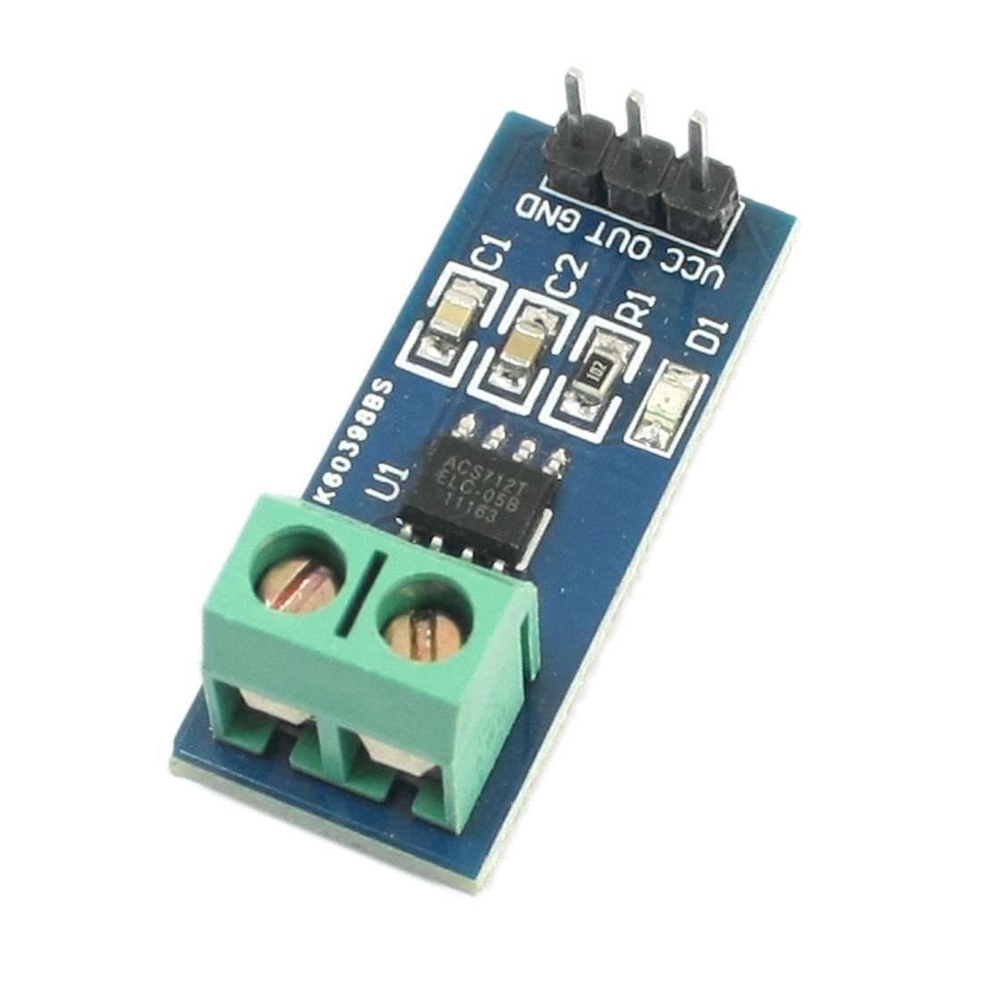 DIY 5A Measurement Range ACS712ELC-05B Chip Current Sensor Module