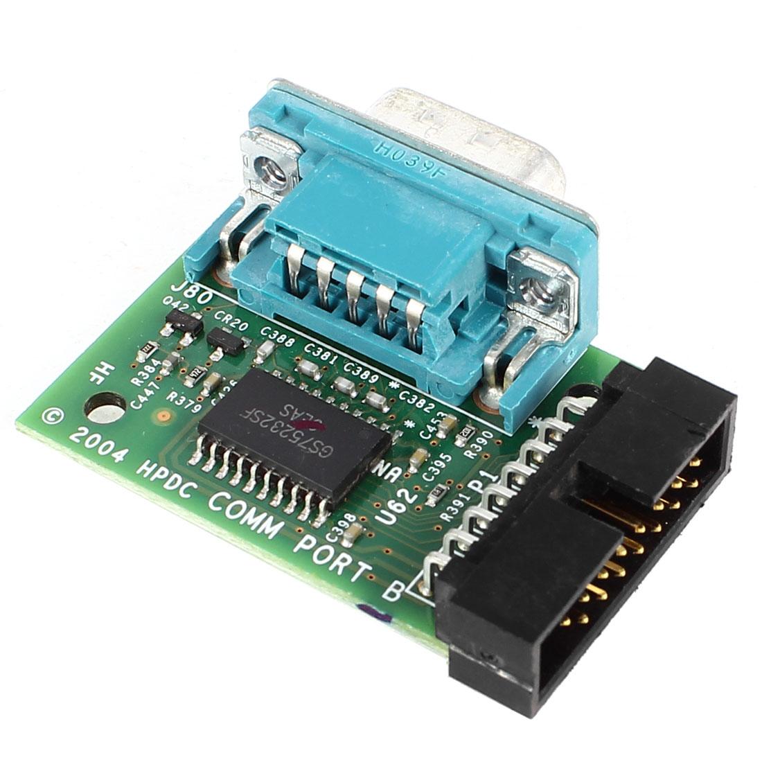 VGA Serial Port DB9 9Pin Male to JTAG 15pin Male PCB Board 75232 Chip Module