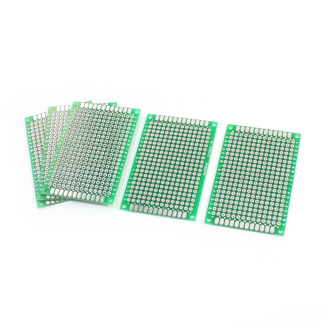 6cm x 4cm Dual Side Solderable Prototype Universal PCB Circuit Board 5PCS