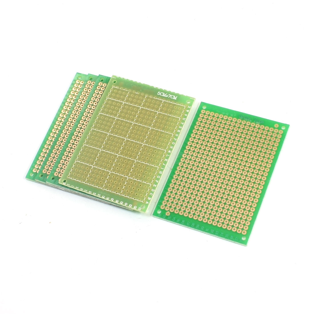 5pcs Prototyping Experiment Tester Matrix PCB Circuit Board 5x7 5 x 7cm