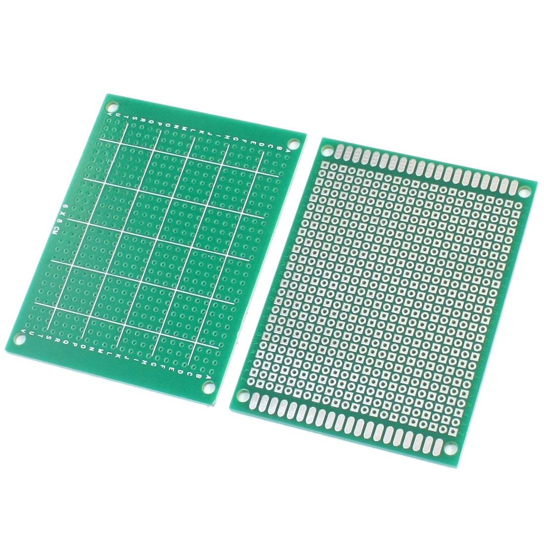 2pcs FR-4 Universal Prototype Paper PCB Printed Circuit Board 6 x 8cm