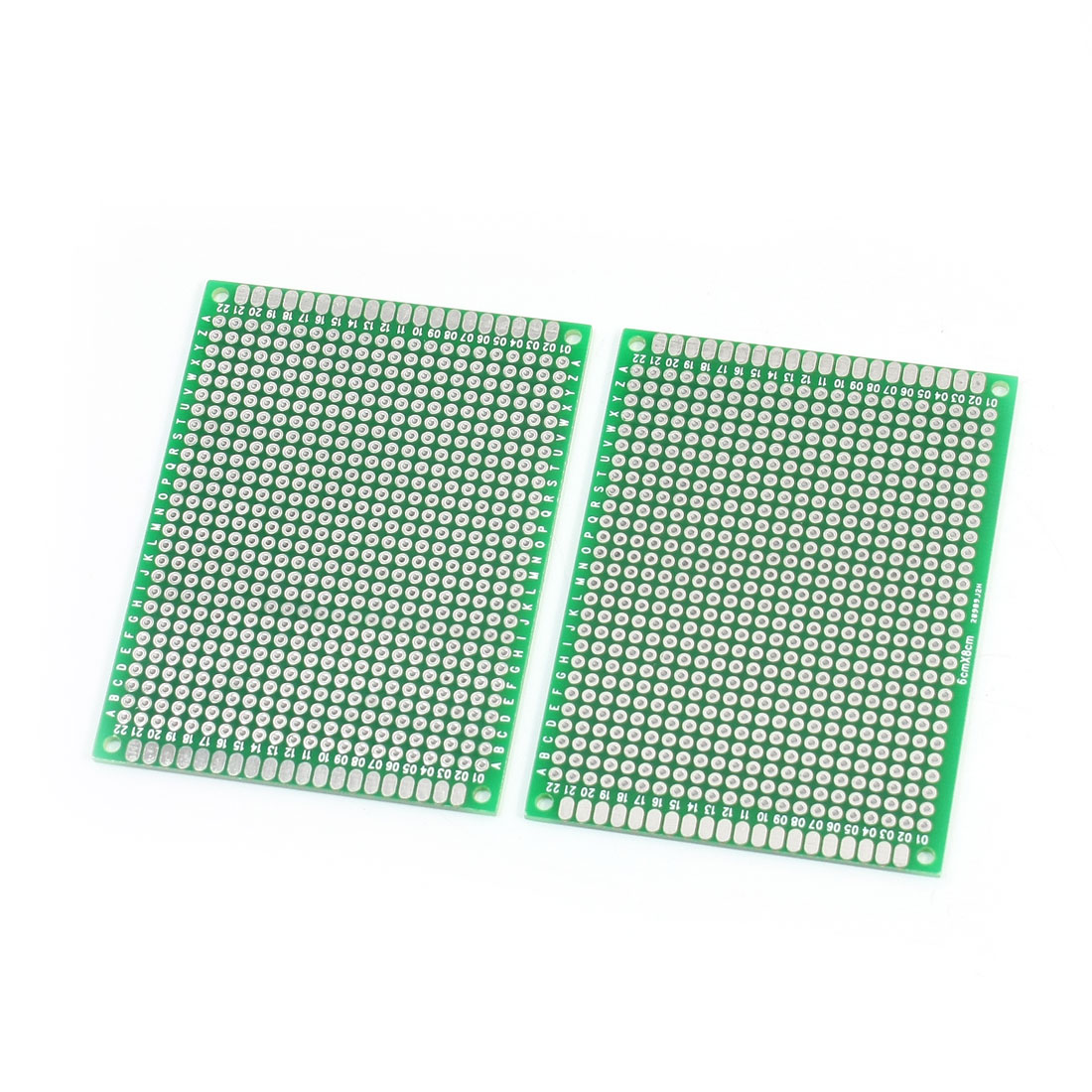 2.54mm Hole Pitch Dual Side Tinned DIY PCB Universal Board 8cm x 6cm 2PCS