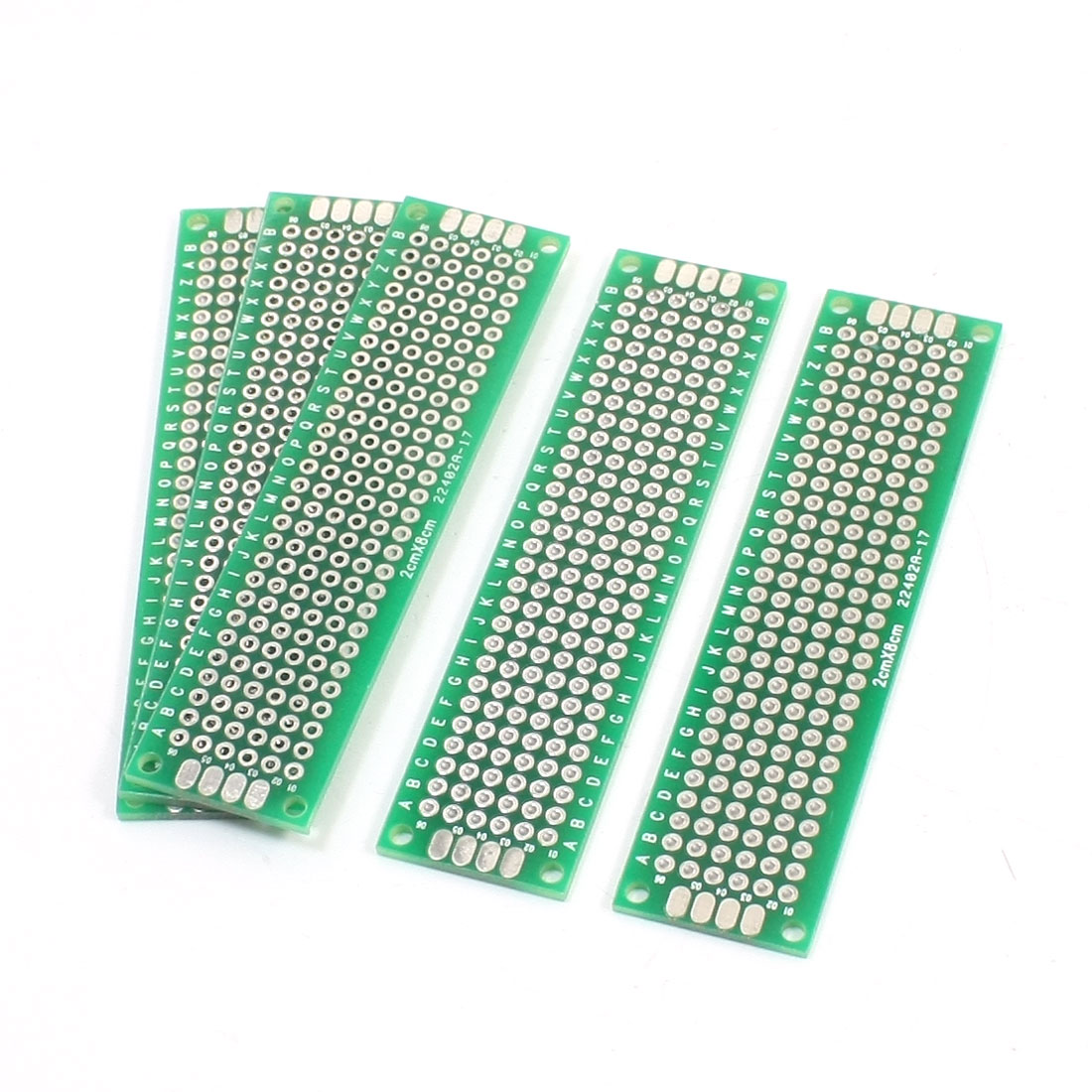 FR-4 Double Side DIY Experiment Matrix PCB Universal Board 8cm x 2cm 5PCS