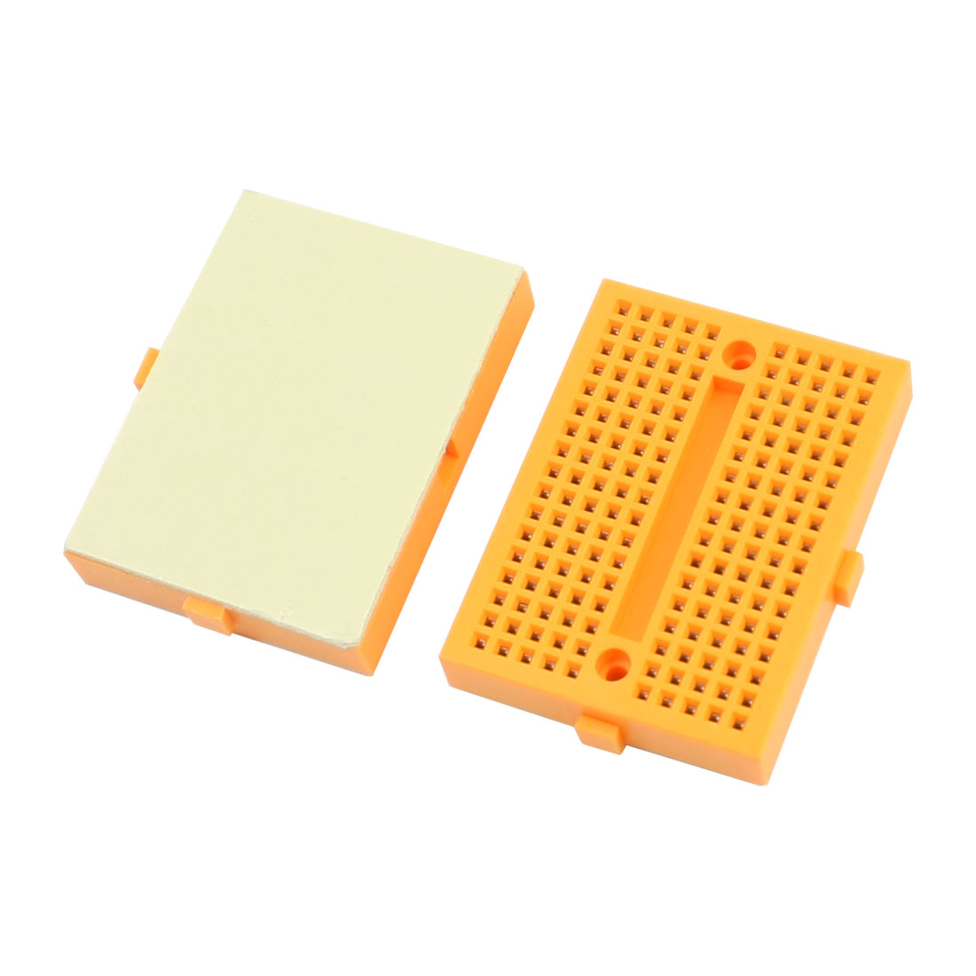 2pcs Yellow 170 Tie Point PCB Prototype Solderless Breadboard 45 x 35 x 8mm SYB-170
