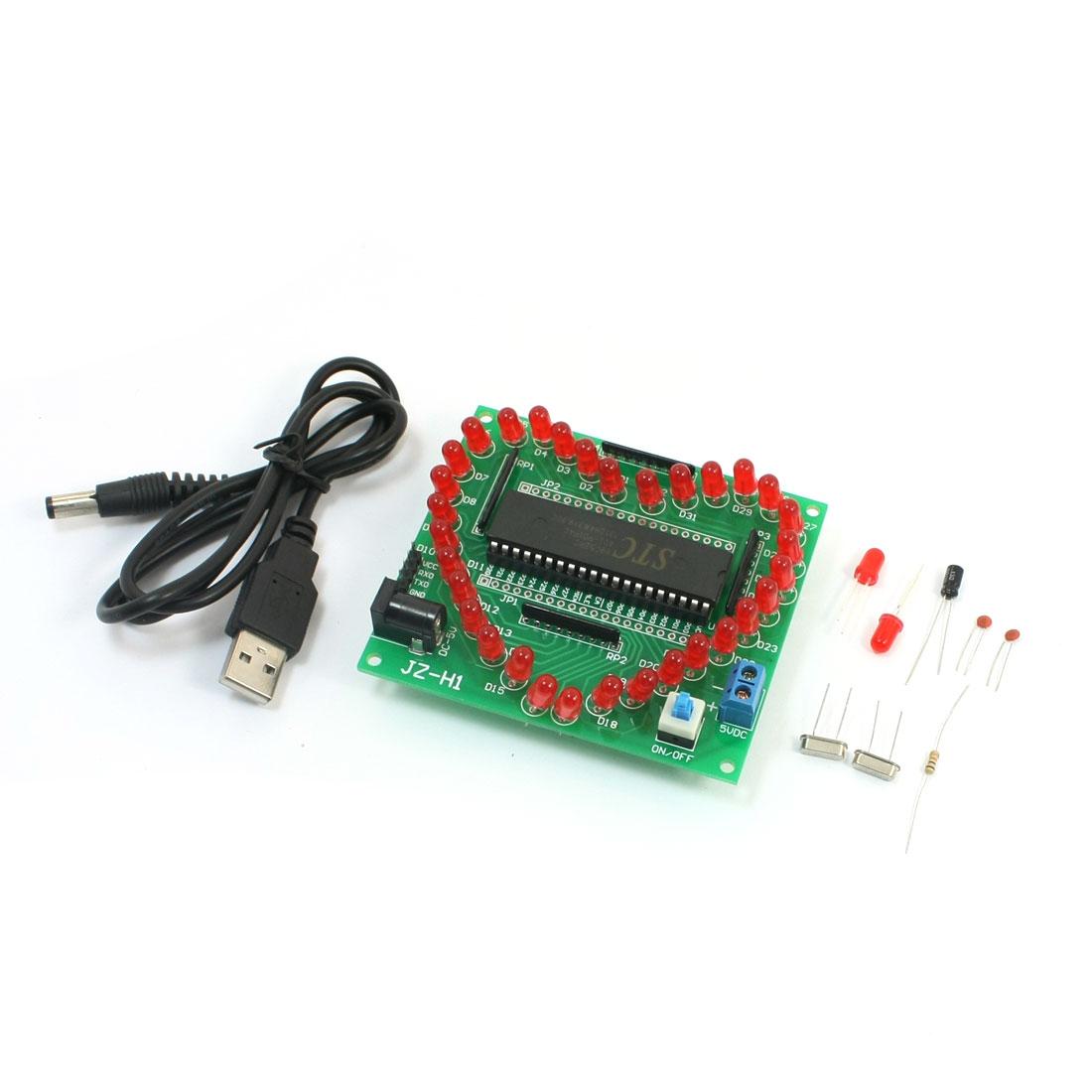 51 Microcontroller Heart Shaped LED Module Blank Board Parts